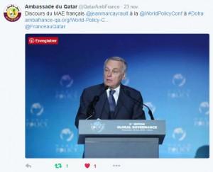 tweet ambassade qatar