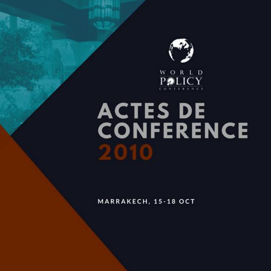 Actes de conférence 2010