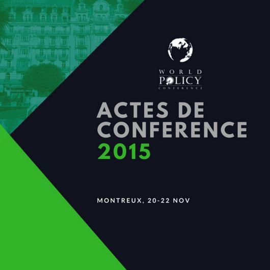 Actes de conférence 2015
