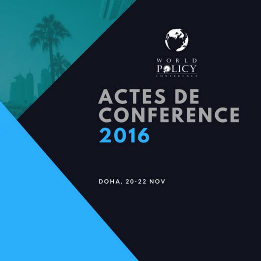 Actes de conférence 2016