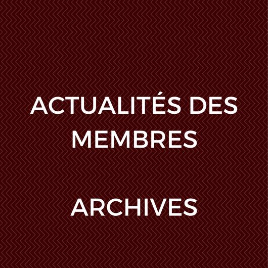 Actualités des membres – Archives