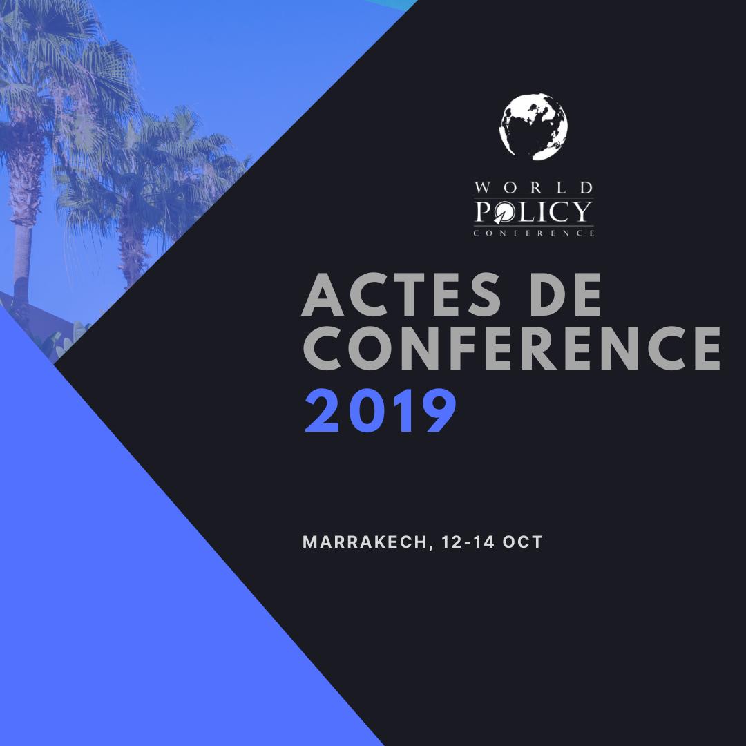 Actes de conférence 2019