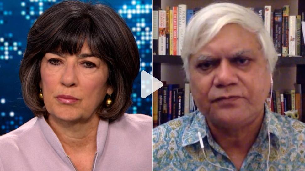 Christiane Amanpour interviews Narendra Taneja for CNN.